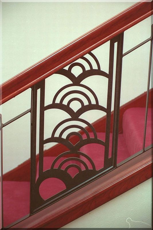 Art Deco Staircases Tropical Art Deco Balustrade Stair