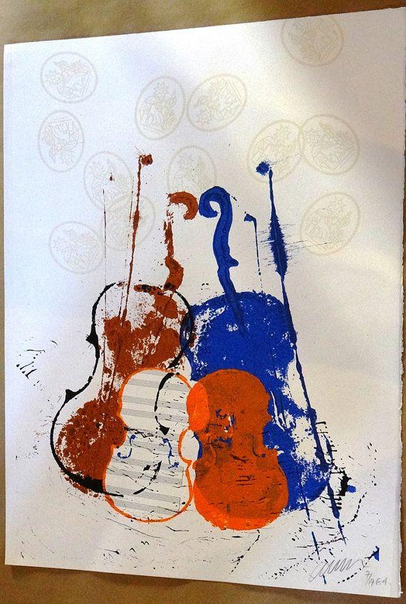 ARMAN Fernandez ,Le 4 violini, violinista, musica, strumento a corda…