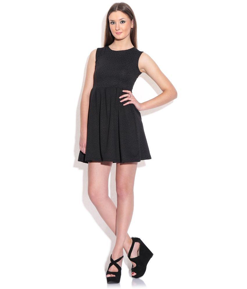 Chemistry Black Polyester Dress