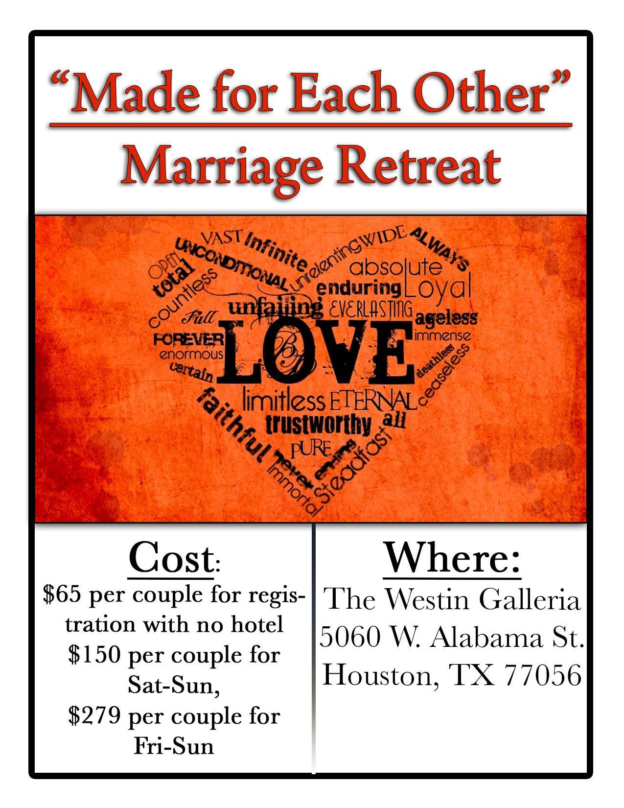 Marriage Retreat Idea Marriage Retreats Couples Retreats Couples Dinner