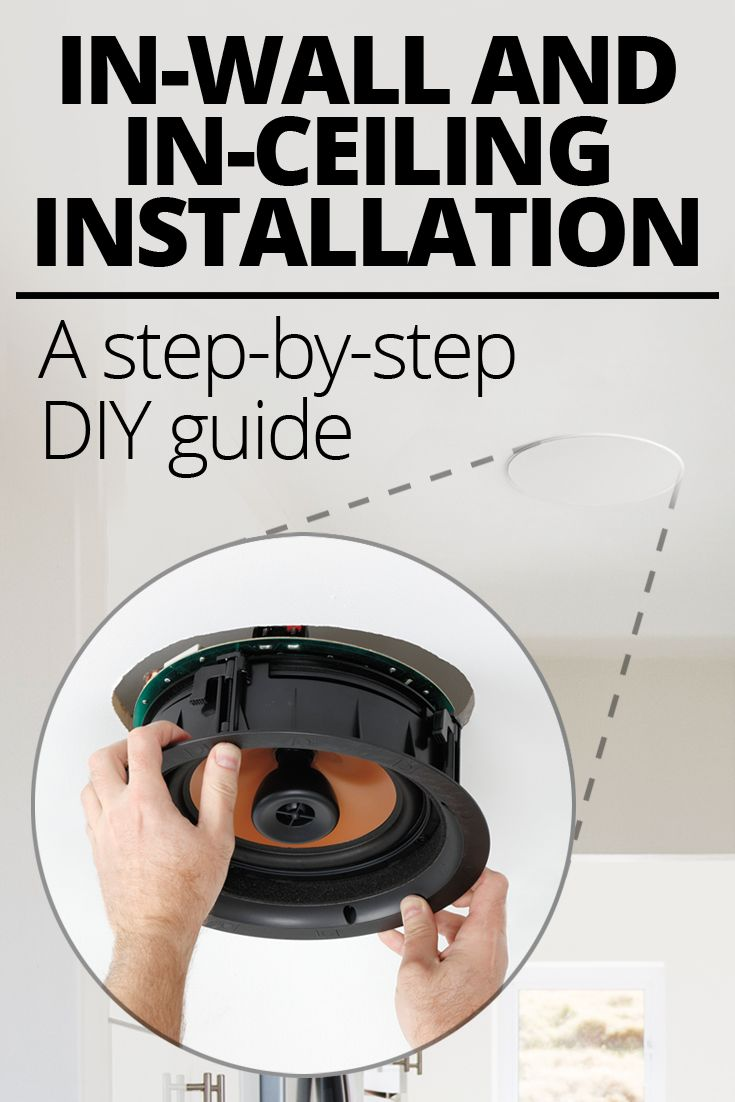 In Wall And Ceiling Speaker Placement Installation Home Theater Wiring Installing Speakers A Step By Do It Yourself Guide Your Own Or On Can Give You