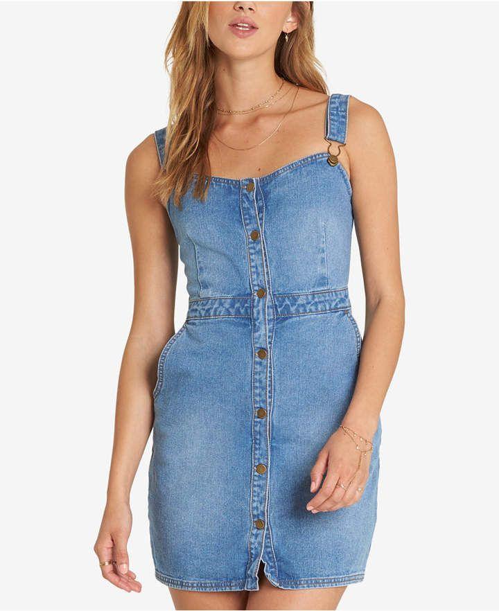 772e3ed558 Billabong Juniors  Cotton Denim Dress