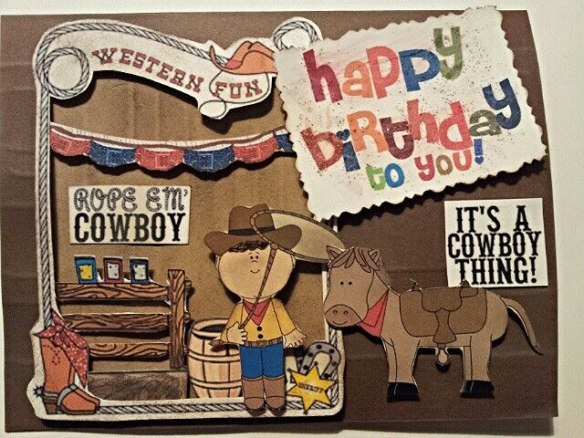Boy birthday card,  Western theme