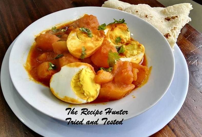 Quick and Easy egg and potato curry – delicious