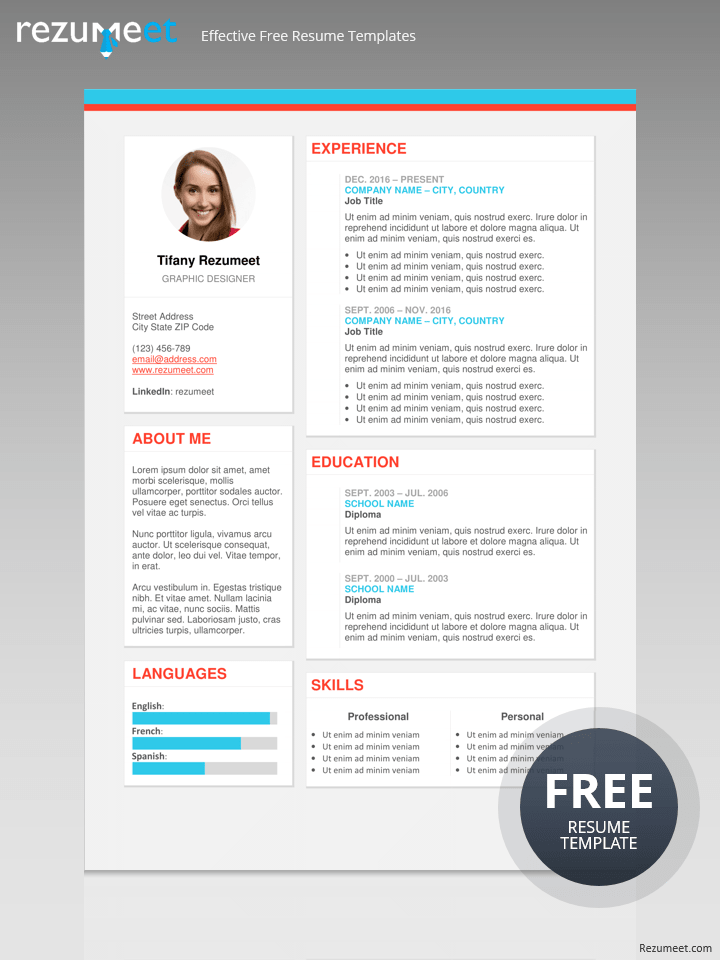 the plateau free modern resume template - Modern Resumes