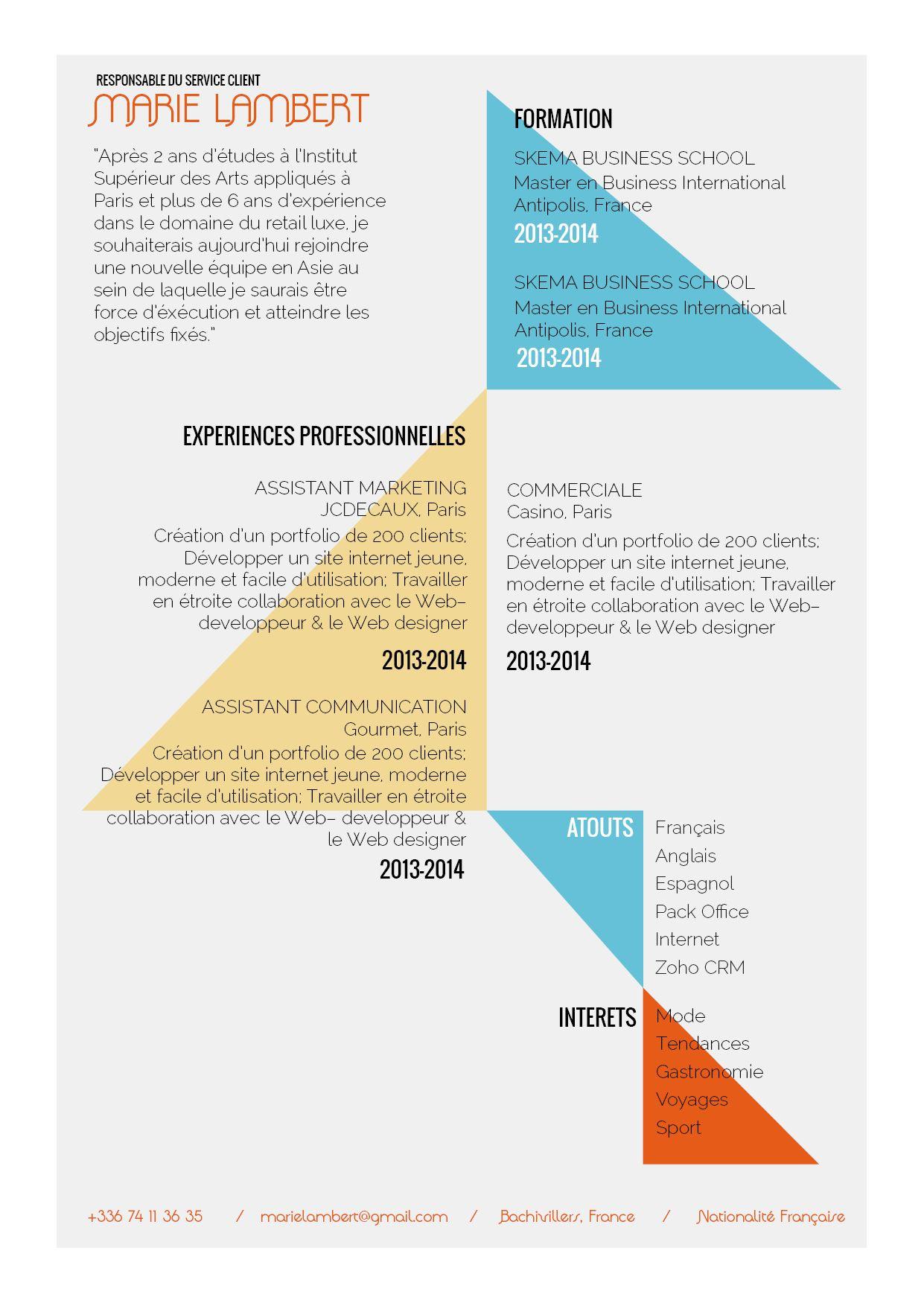 Naviguant Tres Creatif Ce Cv Inspire L Art La Rigeur Et La Simplicite Vraiment Tres Modele De Cv Creatif Exemple De Lettre De Motivation Exemple De Lettre