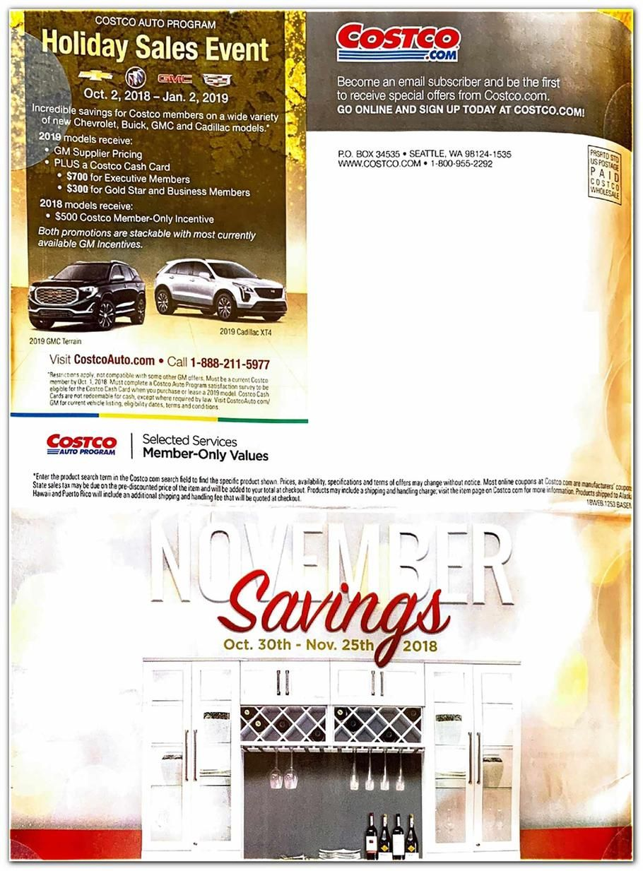 Costco Online Only November Savings 2018 Ads And Deals Browse The