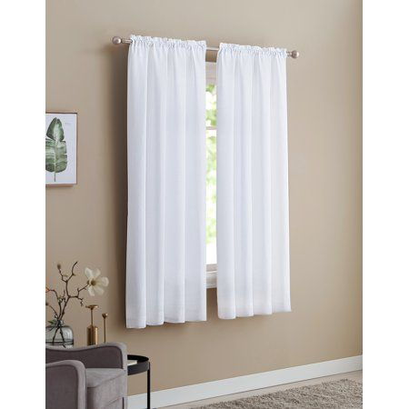 Home Window Panels White Curtains Fabric Shades
