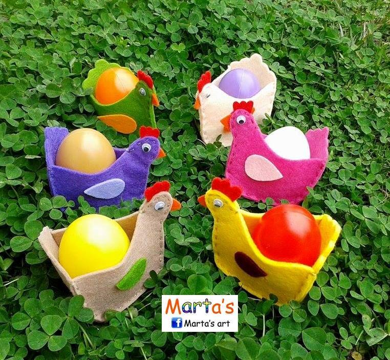 felt Easter egg baskets