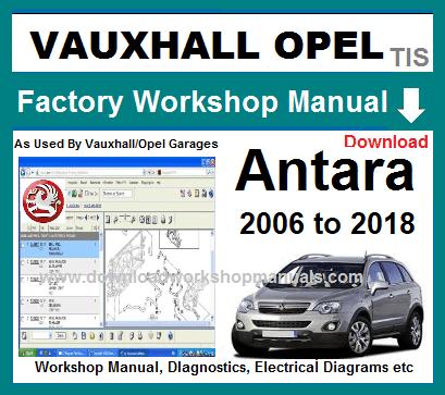 Vauxhall Opel Antara 2006 To 2018 Service Repair Manual Download Vauxhall Repair Manuals Opel
