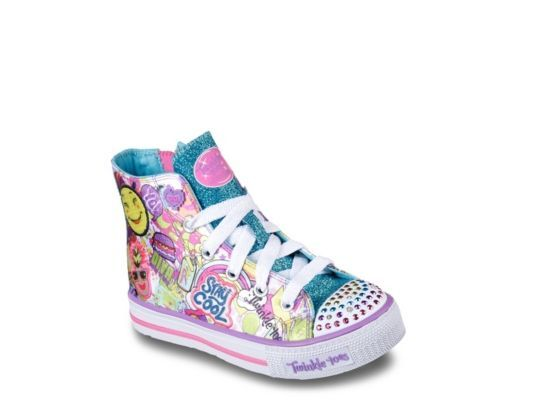 Women s Skechers Twinkle Toes Shuffles Girls Toddler   Youth High-Top Light- Up - Multicolor 317ced56f