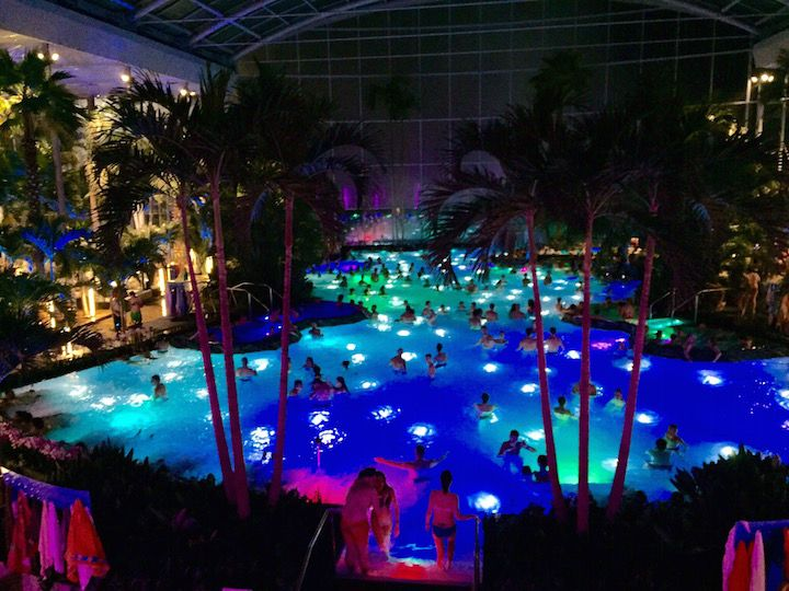 Night View From The Panoramic Pool Timetotherme Relaxation