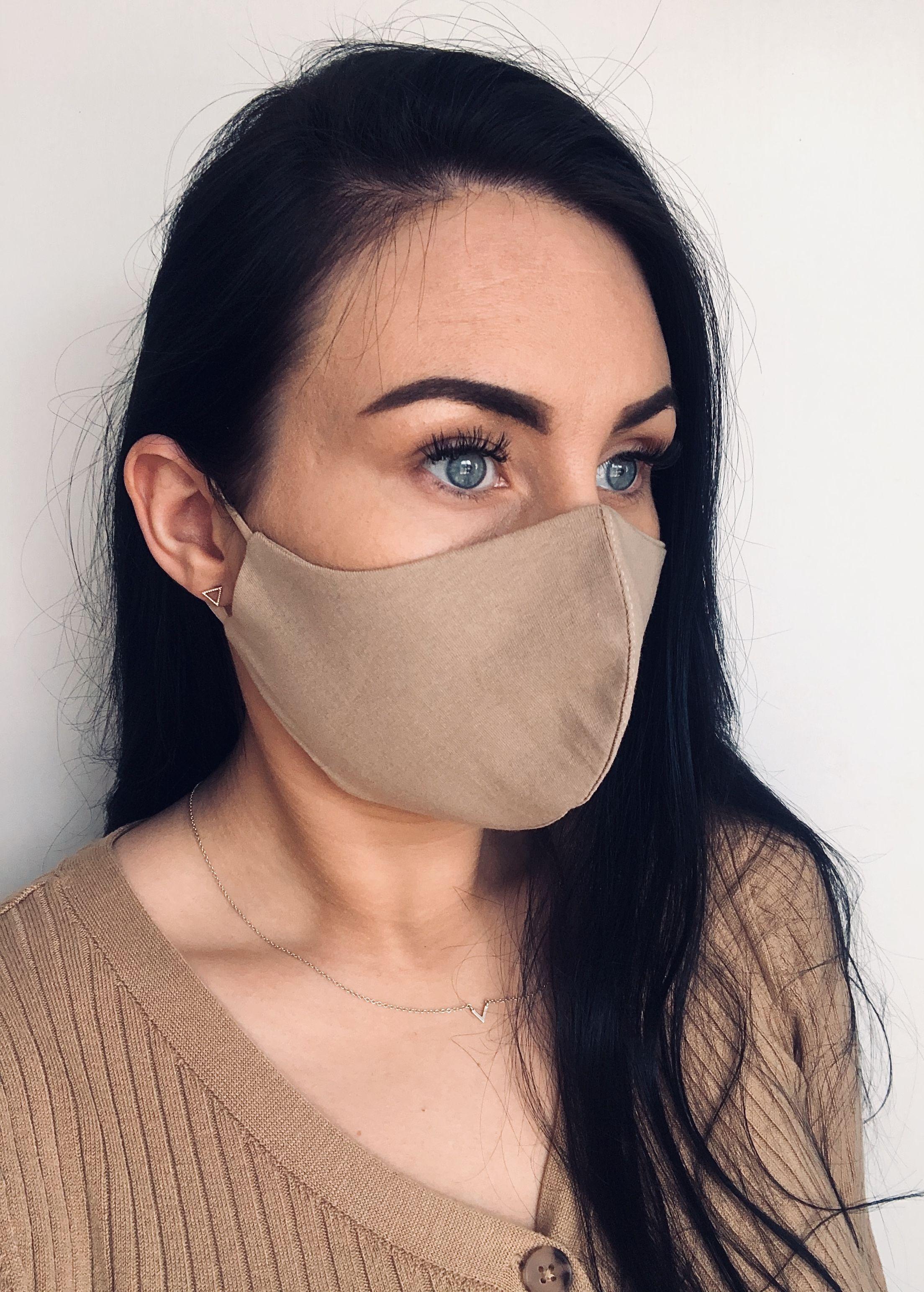 Beautiful Beige Cotton Face Mask Lacos De Cabelo Mascara De Protecao Mascara