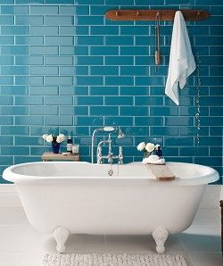 Coloured Tiles In Bathroom   Google Search