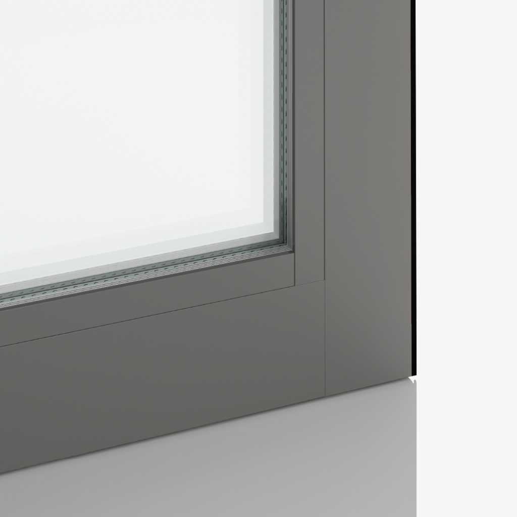 Grey Aluminium Ral9007 Fensterfarbe