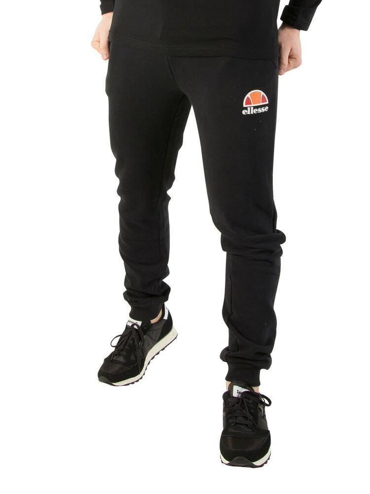 Black Ellesse Men/'s Ovest Logo Joggers
