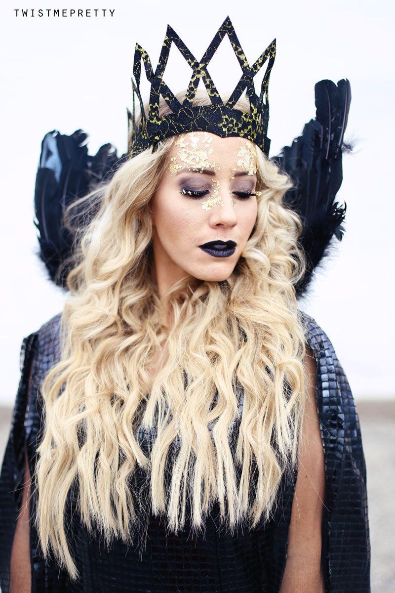 Evil Queen Makeup Hair Tutorial Queen Ravenna Twist Me Pretty Queen Makeup Evil Queen Costume Evil Queen Makeup