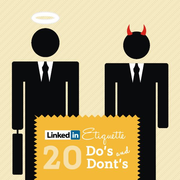 LinkedIn Etiquette Guide 20 Do\u0027s  Don\u0027ts INFOGRAPHIC - recoommendation letter guide