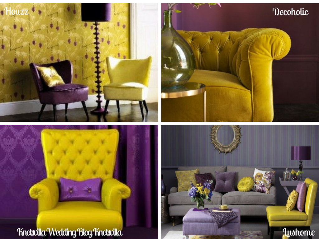 Lavender and mustard, a rich jewel color scheme. | Lavender Glam ...