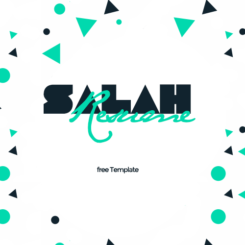 Check Out This Behance Project Salah Resume  Free Personal