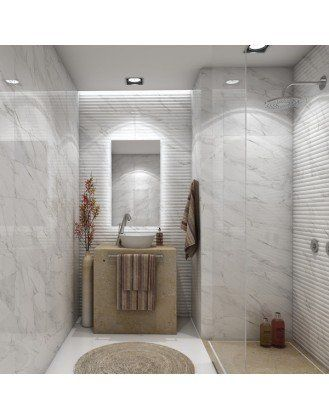 Carrara Bianco Marble Effect Wall Tile Home Theatre Pinterest Tilearbles
