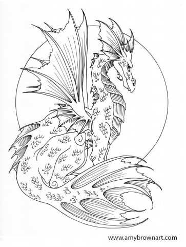 Fairies and a Dragon! | Coloring Pages to Print | Pinterest ...