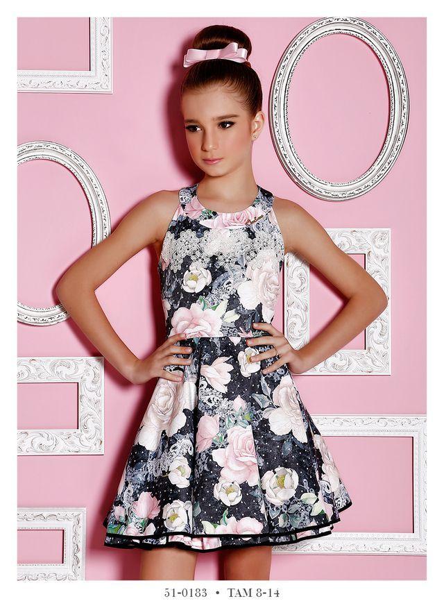 Vestido Infantil Miss Cake Doce Princesa 510183 | Moda para niños ...