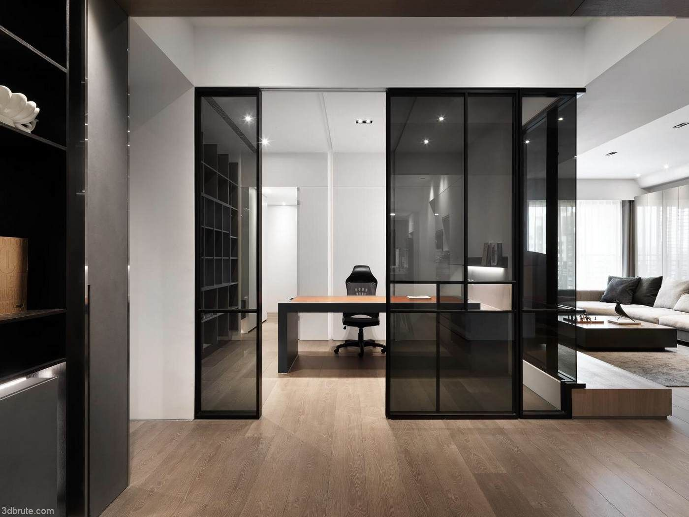 Sub Division Space Design 80 Ping Simple Wood Color Modern Warm Home Download 3d Models Free 3dbrute Home Office Design Home Study Rooms Design
