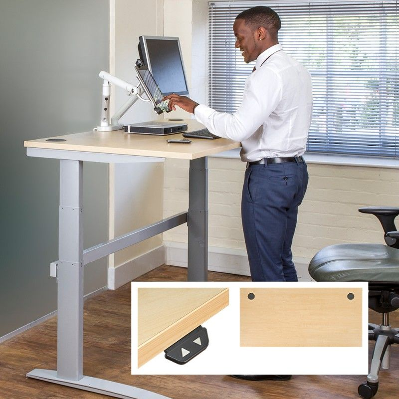 DeskRite 500 Electric Height Adjustable SitStand Desk Writing