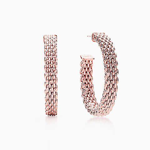 Tiffany Somerset Clic Hoop Earrings In Rubedo Metal Medium