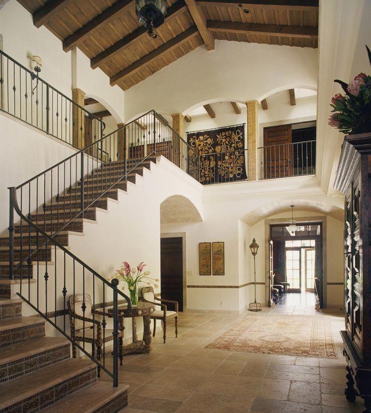 80 Modern Farmhouse Staircase Decor Ideas 64: Häuser Im Spanischen Stil