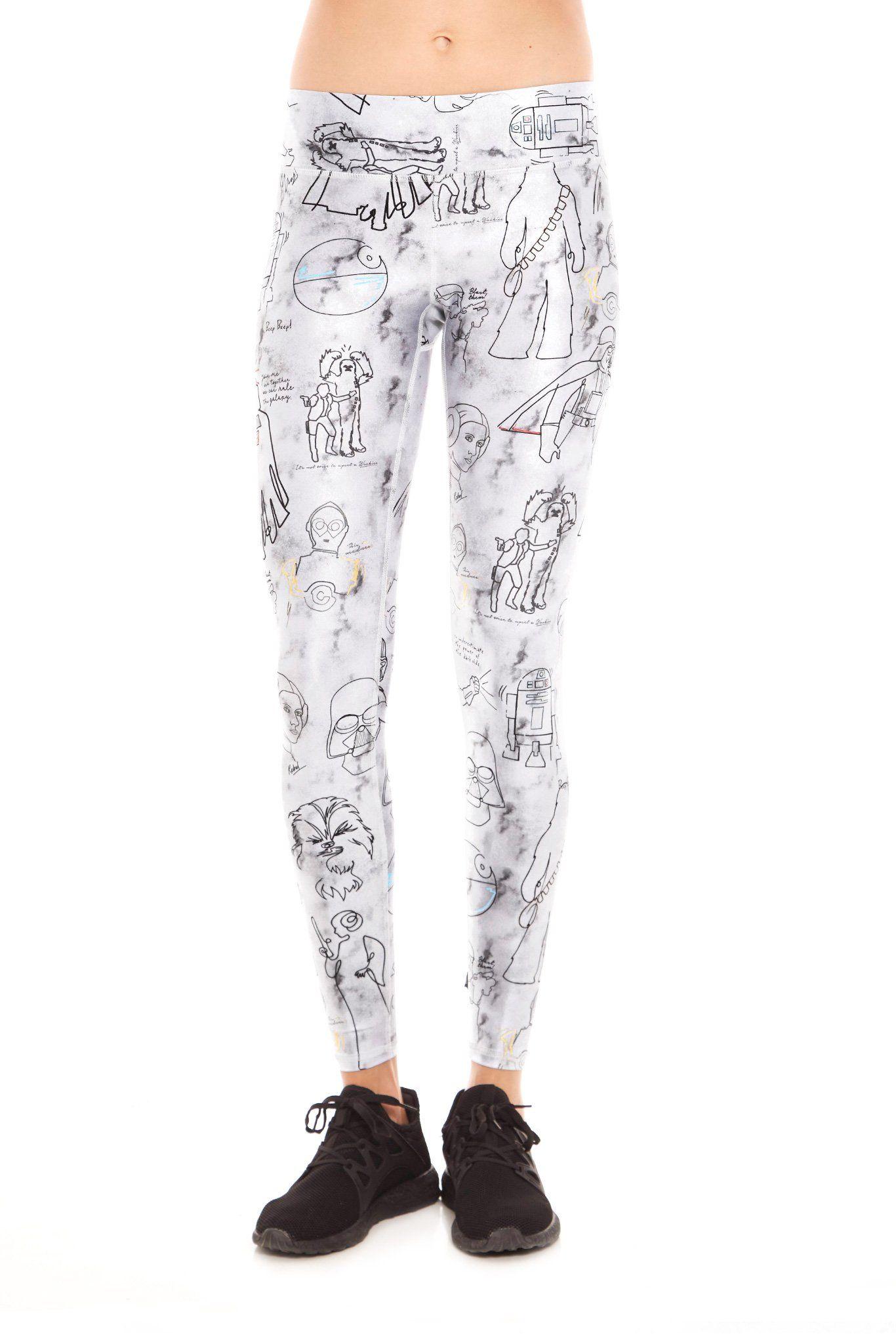 fbb8ac9aac4d9 Women's Terez x Star Wars Sketch Tall Band Leggings ⭐️The Kessel Runway ⭐ Star  Wars fashion ⭐ Geek Fashion ⭐ Star Wars Style ⭐ Geek Chic ⭐️