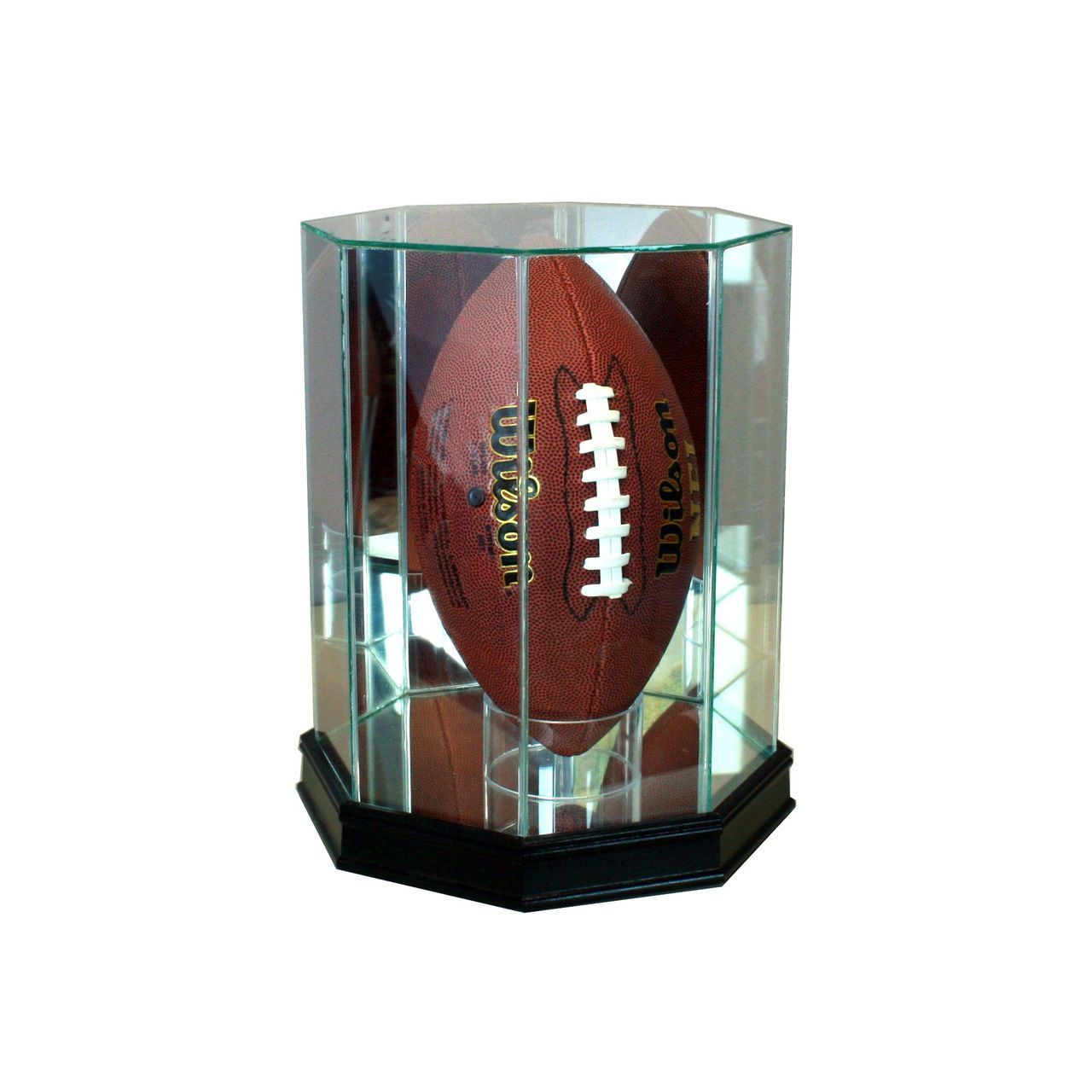 Perfect Cases Octagon Football Glass Display Case