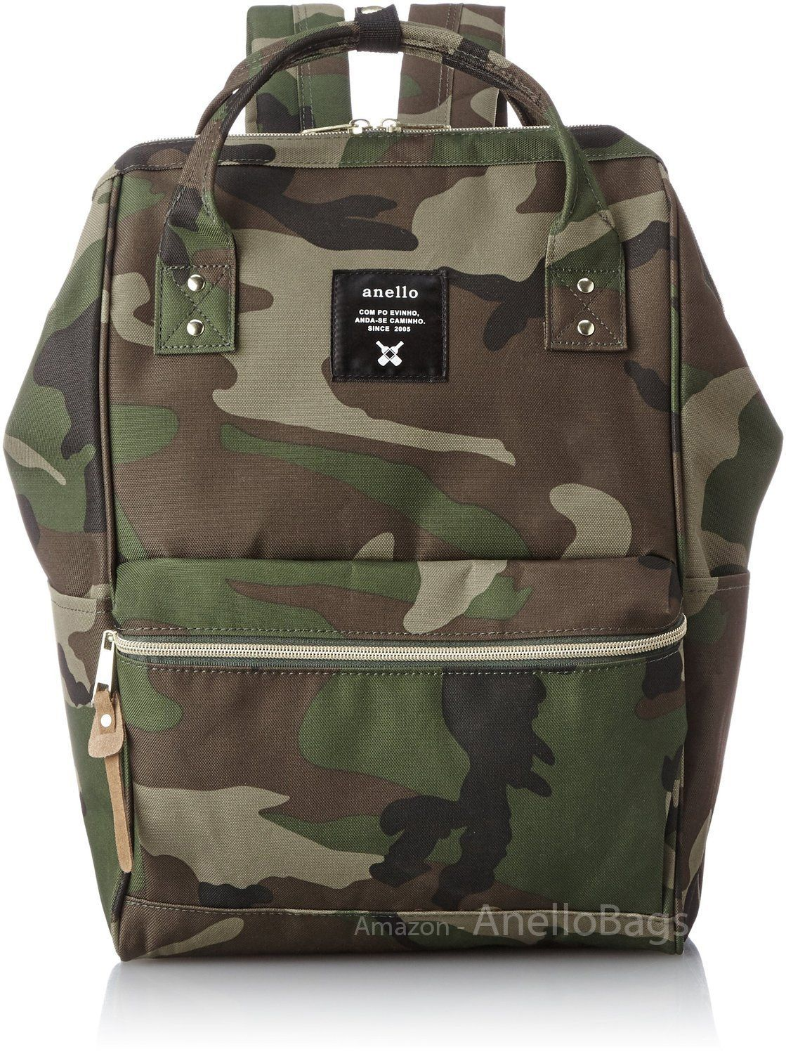 Amazon.com  Japan Anello Backpack Unisex LARGE CAMO Rucksack Waterproof  Canvas School Bag Campus  Sports   Outdoors dc3fcd300f679