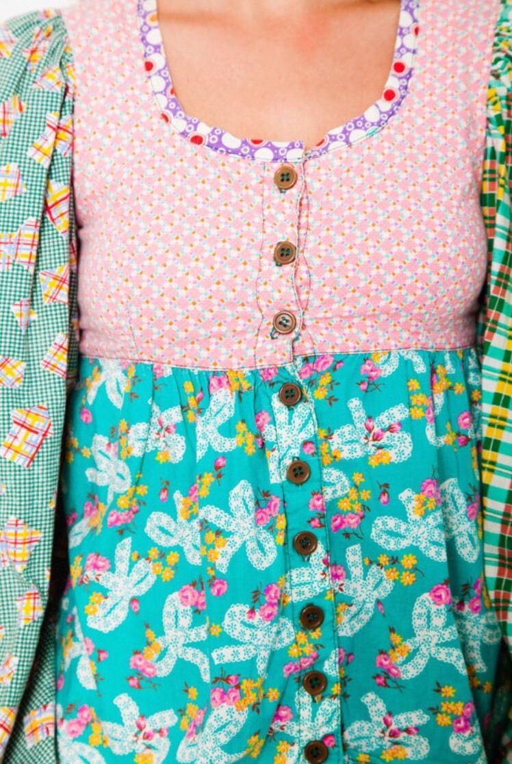 rarest vintage 70s ALLEY CAT by BETSEY JOHNSON patchwork peasant top ...