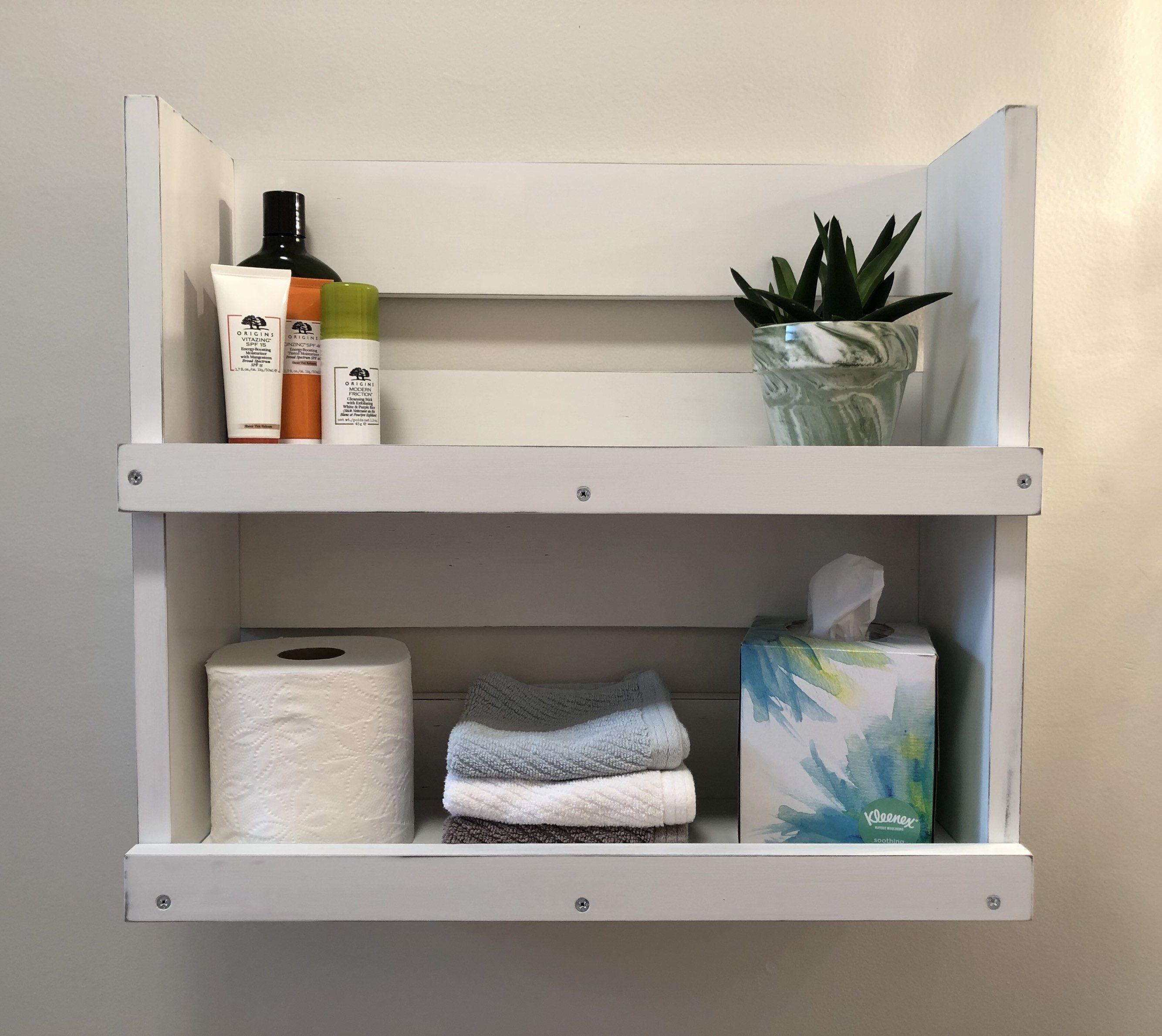 Pin By Blackironworks On Estantes In 2020 Shelves White Wood Shelves Bathroom Wood Shelves