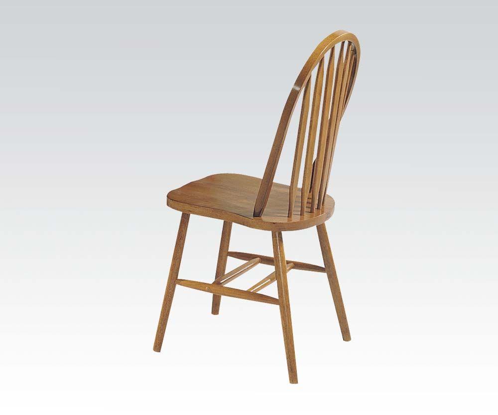 4 Nostalgia Oak Deluxe Arrowback Windsor Side Chairs 06344oak By
