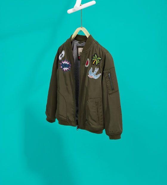 image 1 of bomber jacket from zara vestes pinterest. Black Bedroom Furniture Sets. Home Design Ideas