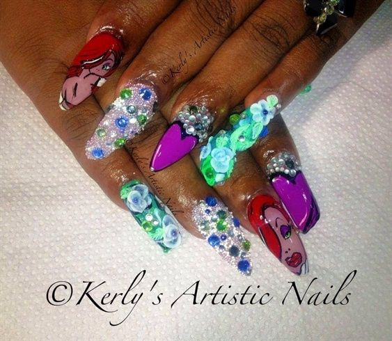 Jessica Rabbit Inspired Nail Art Design By Kerlysnails Nail Art