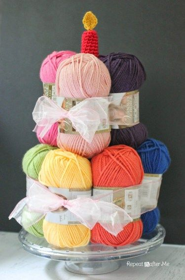 If Anyone Wants To Get Me A Birthday Cake Yarn Ball