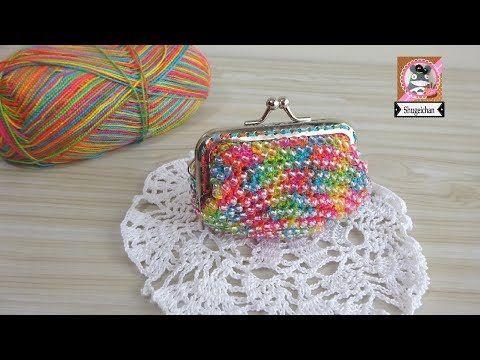 Monedero De Colores Con Cuentas Transparentes Youtube Taschen