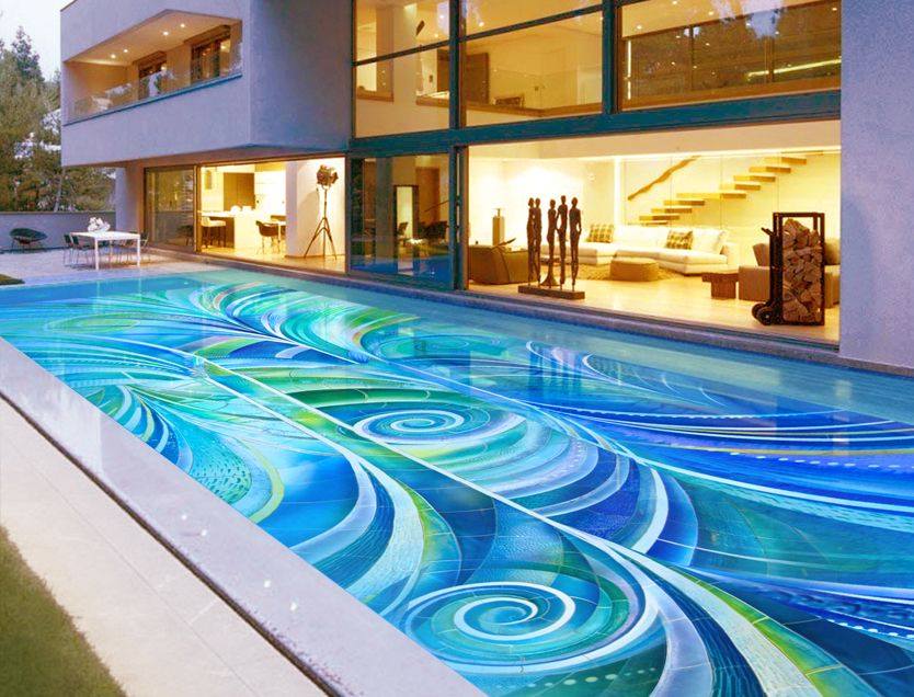 Outdoor Living -- Glass Mosaic Pool Tile | Cool, cute and yum ...