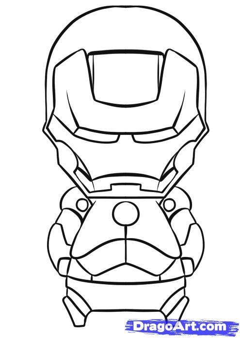 How To Draw Chibi Iron Man Step 7 Chibi Drawings Tsum Tsum Coloring Pages Chibi