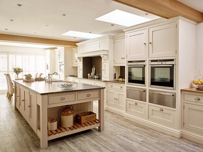 Open Country Kitchen Designs spacious country kitchen design - tom howley | cottage cabinetry