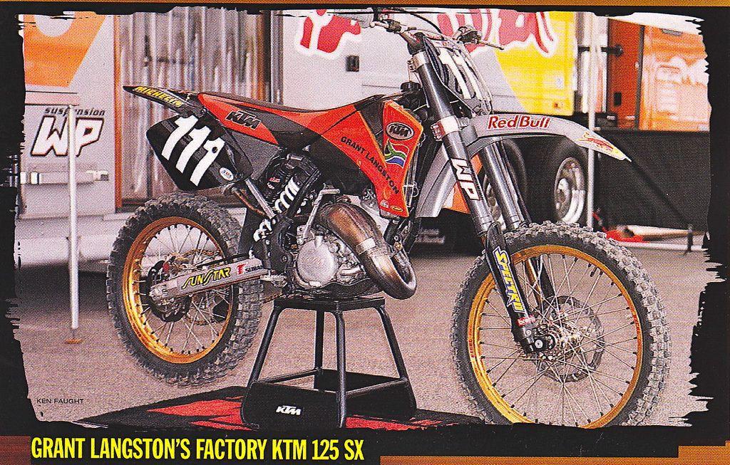 Grant Langston S 2001 Factory Ktm 125 Sx Ktm Motocross Bikes Motocross