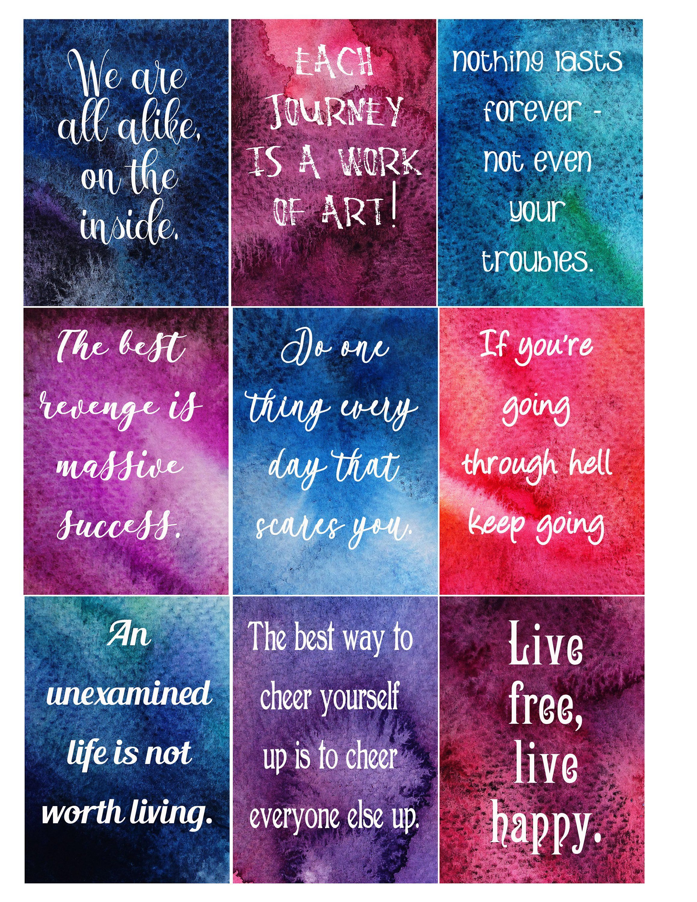 Positivity Cards Affirmation Cards Printable Art Cards
