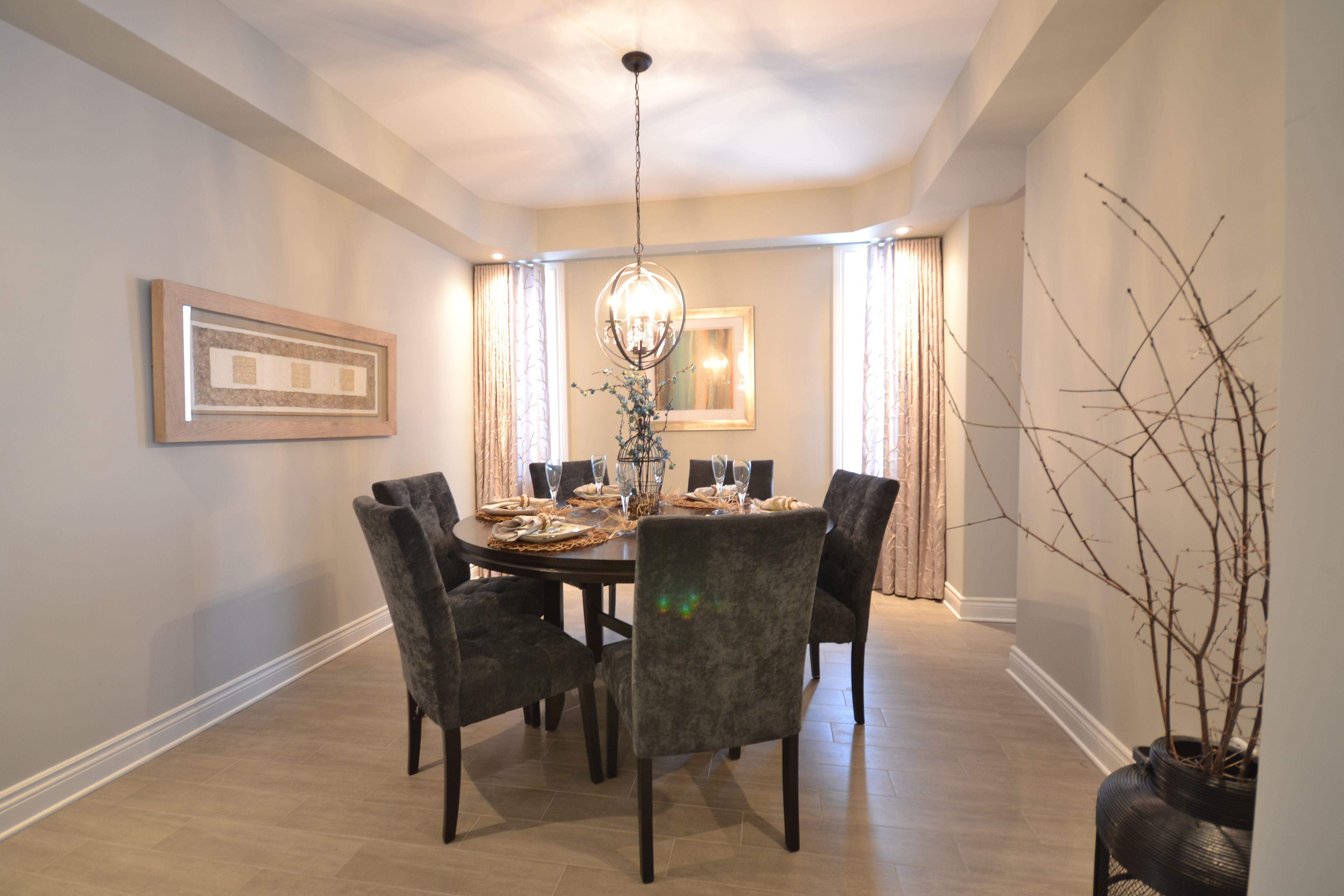 Richardson Ridge New Home Ottawa Ontario Builder Dining Room Table Light Walls