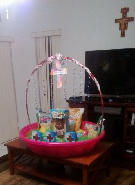 Mom of 3 boys helps the easter bunny create the biggest baddest mom of 3 boys helps the easter bunny create the biggest baddest easter basket negle Gallery