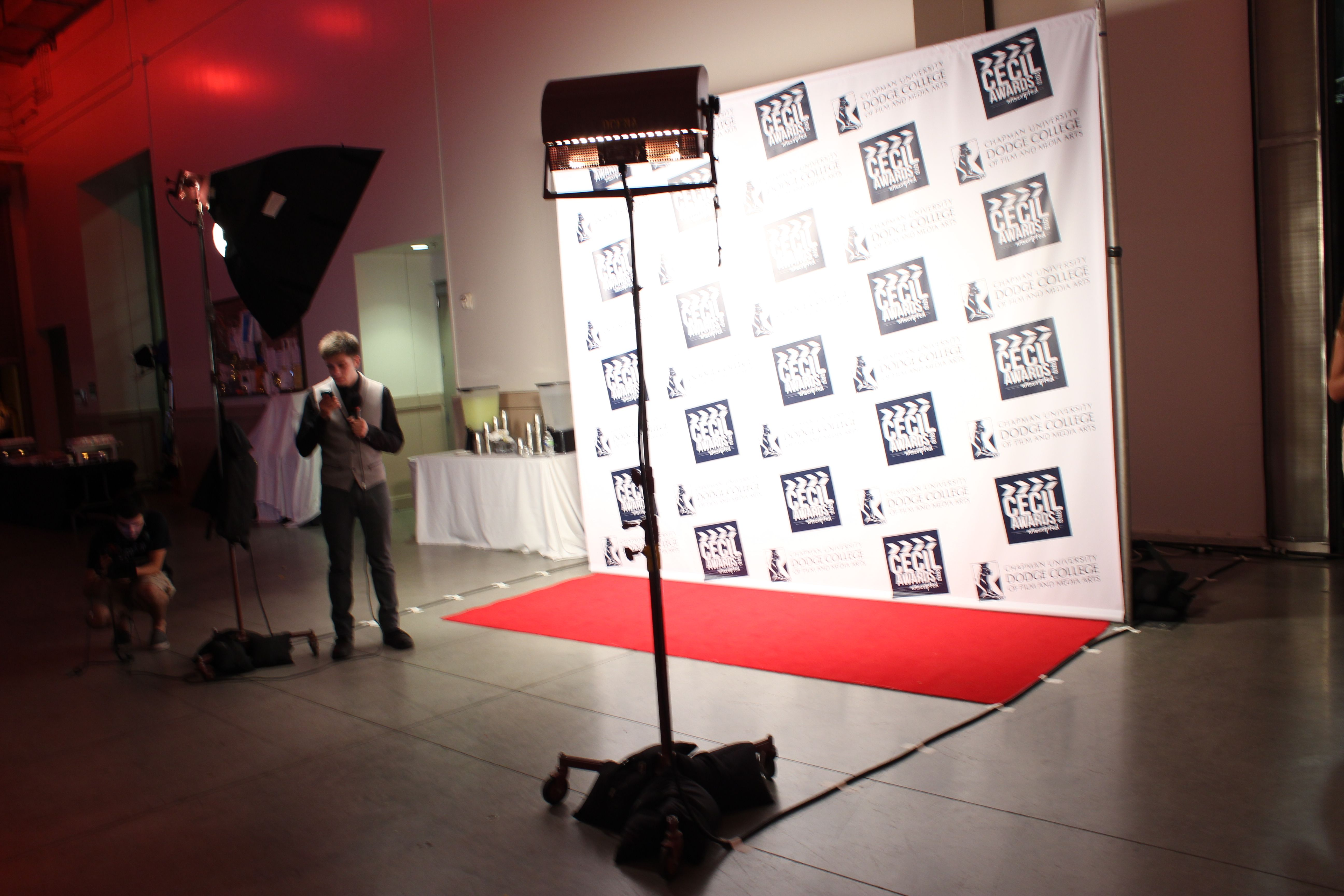 Lighting and red carpet for a step and repeat photo area. & Lighting and red carpet for a step and repeat photo area. | SR ...