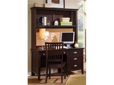 Twilight Desk With Three Drawers U0026 Computer Hutch By Vaughan Bassett @  Belfort Furniture